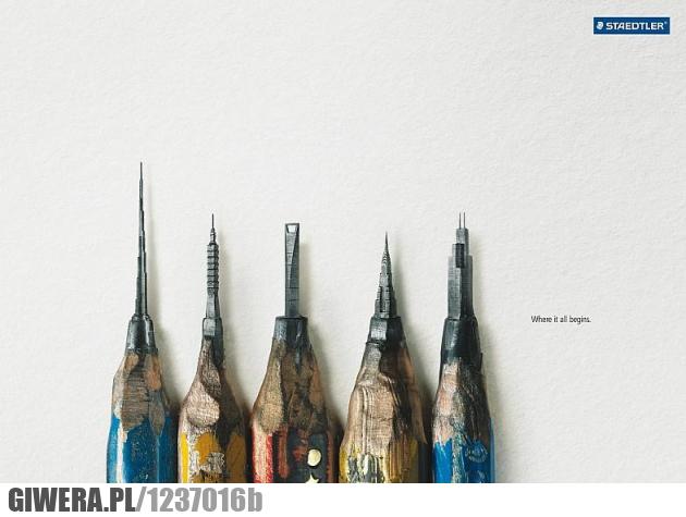 ołówek,rysik,budynki,