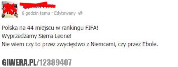 Ranking Fify,Polska,Ebola,Sierra Leone