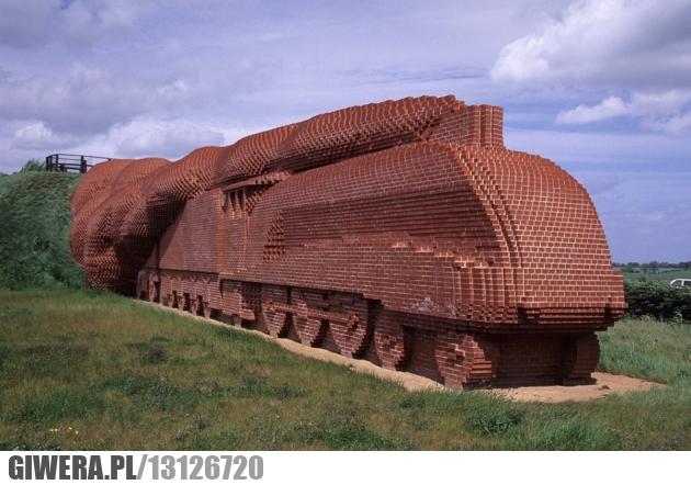 cegły,lokomotywa