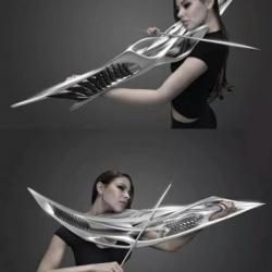 Elektryczne skrzypce, wyglądają jak broń z filmu S-fi