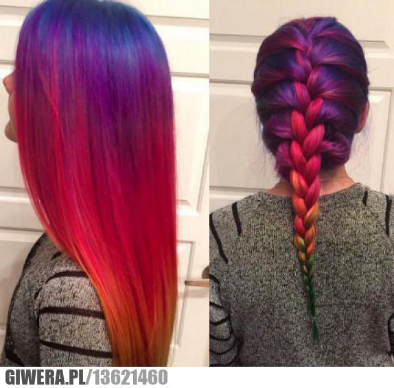 tęcza,włosy