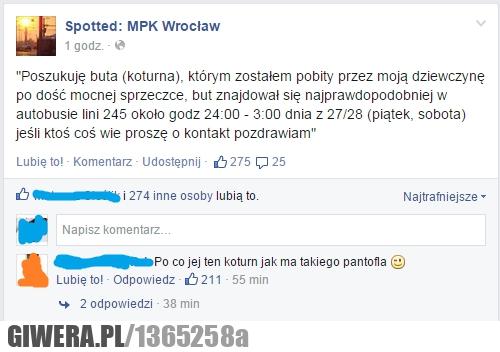 Pantofel,koturn,spotted,Wrocław,kłótnia,dziewczyna