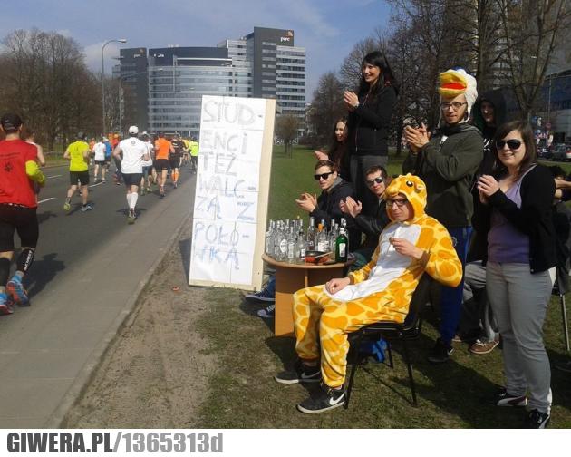 Półmaraton,studenci