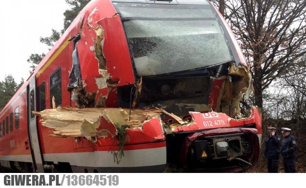 Wichura,drzewo,pociąg,zderzenie,Niemcy