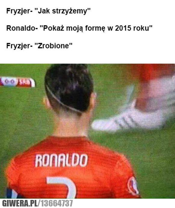 Ronaldo,fryzura,fryzjer,forma
