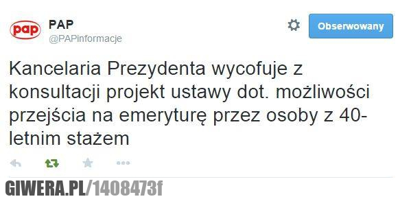 Bronek,Prezydent