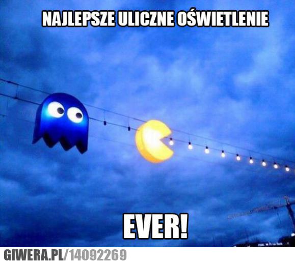 Oświetlenie uliczne,Pac-man