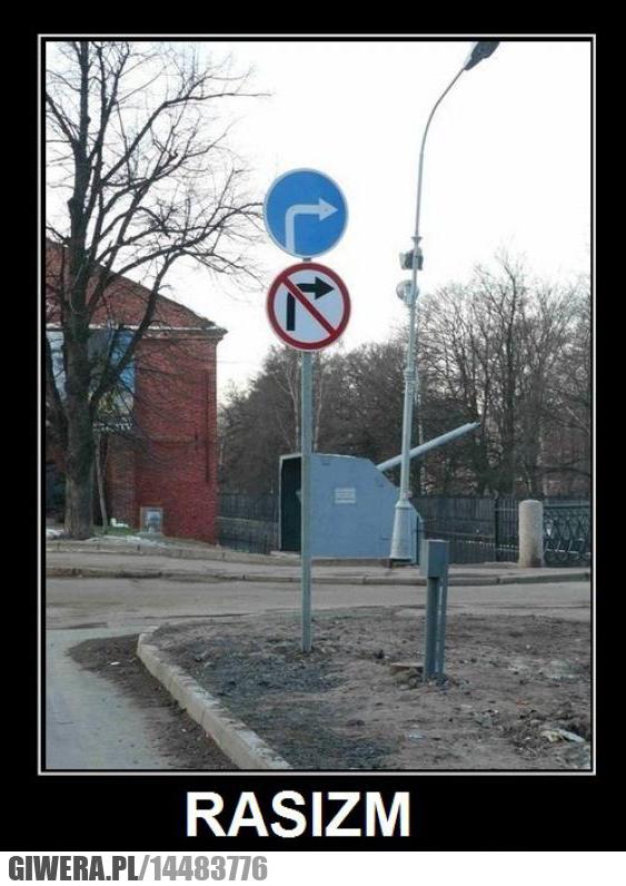 Rasizm,znak drogowy