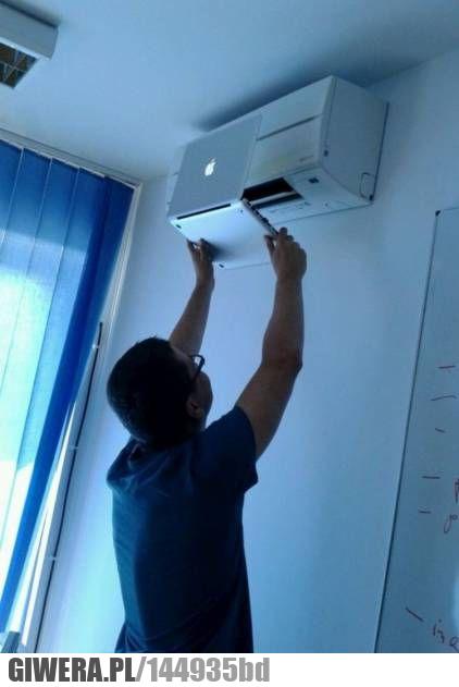 Chłodzenie laptopa,klimatyzacja,apple
