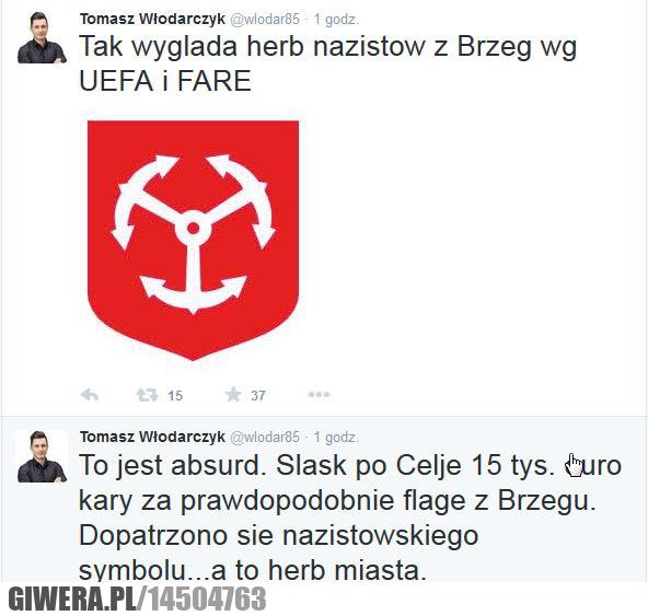 Uefa,Fare,Śląsk Wrocław,Brzeg,herb