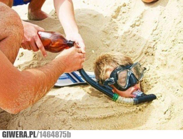 Plaża,kumple,alkohol
