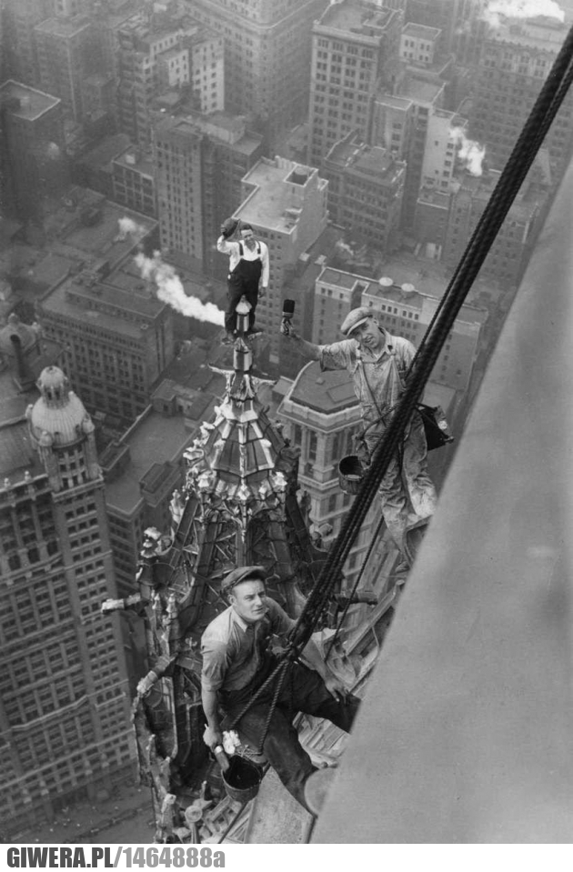 Woolworth Building,robotnicy
