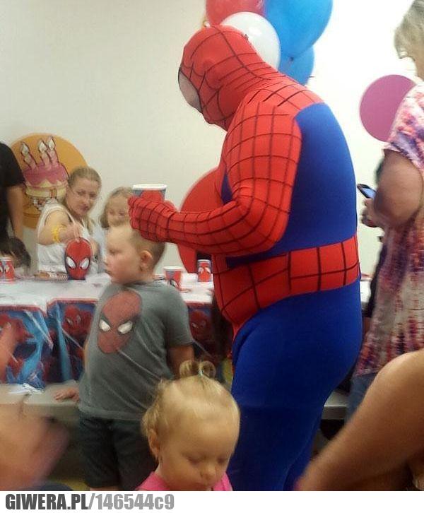 Gruby Spider Man