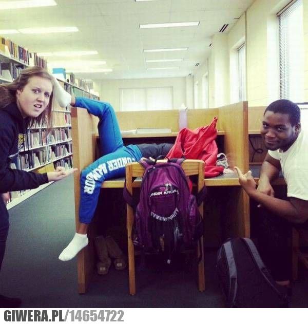 Biblioteka,drzemka
