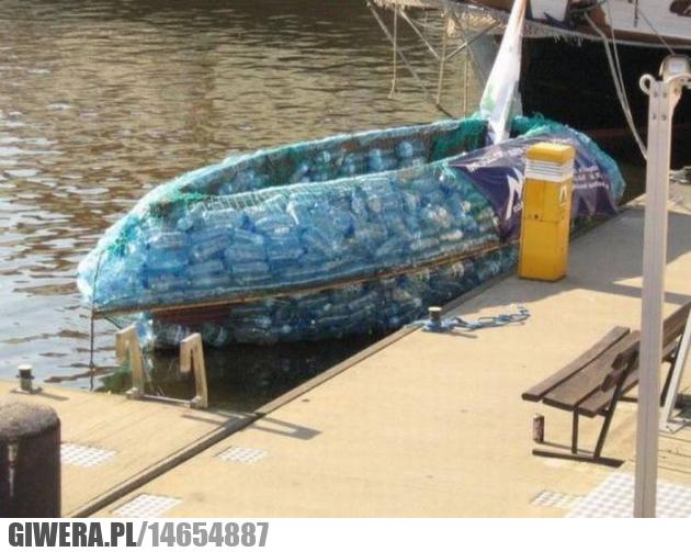 łódka,butelka od plastiku