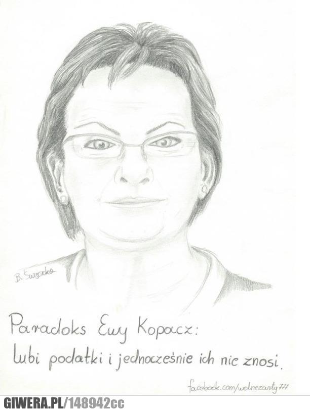Ewa Kopacz,podatki,paradoks