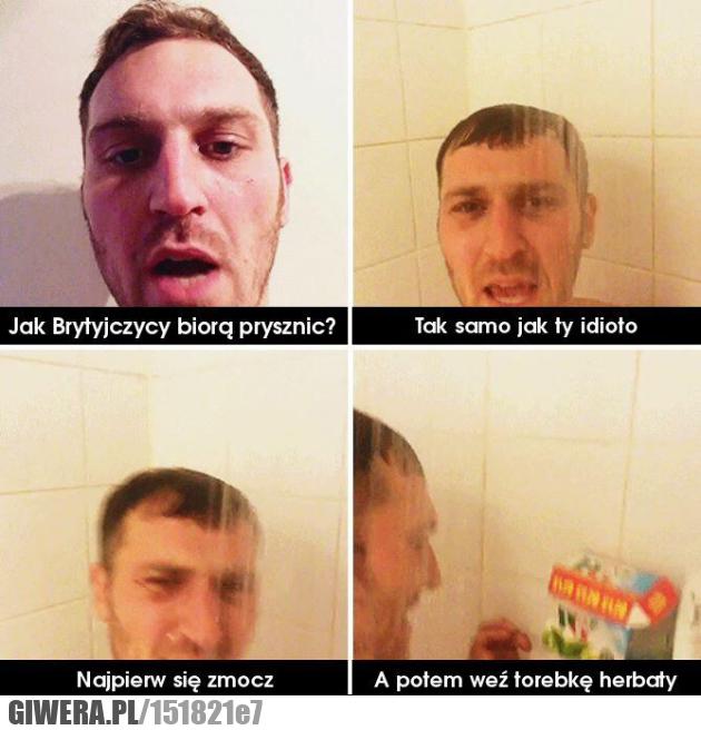 Prysznic,Brytyjczycy,Herbata