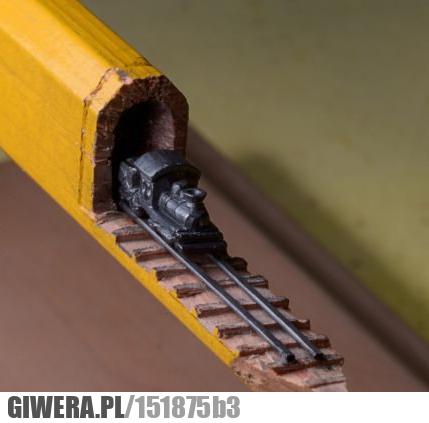 Rzeźba,ołówek,pociąg