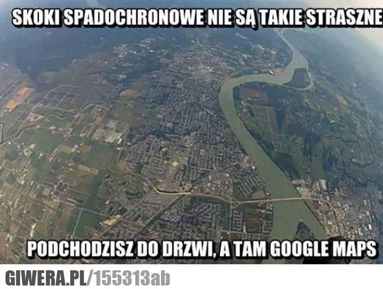 Skoki spadochronowe,google maps