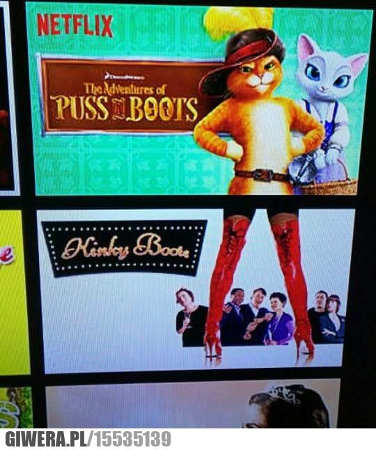 Netflix, kot w butach