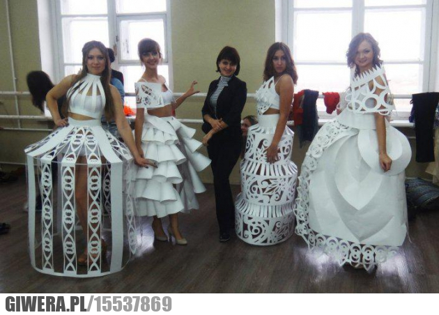 Papierowe suknie