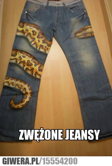 Zwężone jeansy