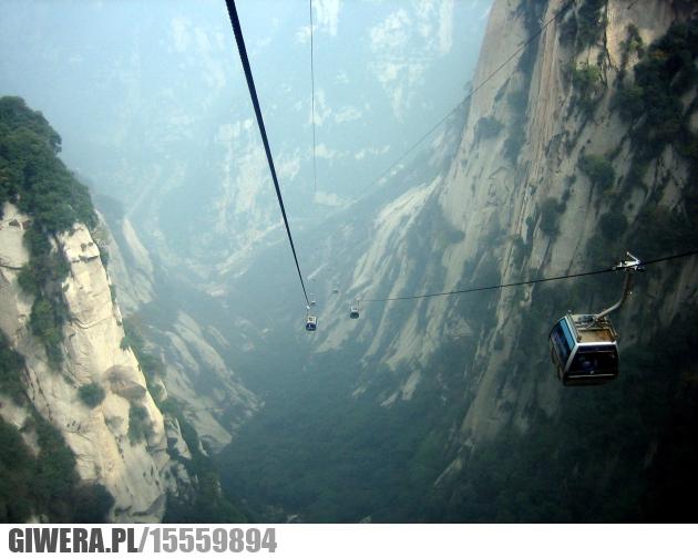 Kolejka linowa,Chiny,Góry,HUa Shan