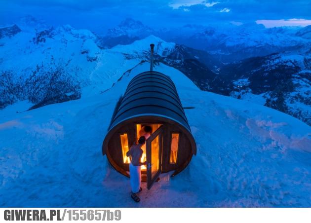 sauna,piękne,góry