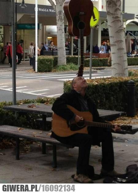 Sztuka uliczna,gitara