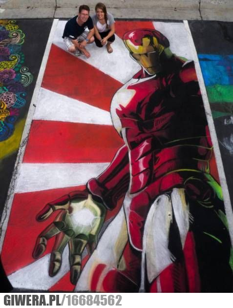 Street art,Iron man