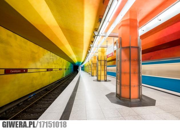 Kolorowe metro,tęcza,metro,monachium