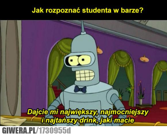Prawdziwy student,bar,drink