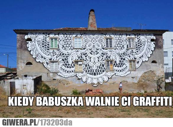 Mural,babcia,babuszka
