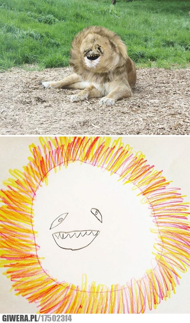 dzieci,rysunki,dziecka,lew