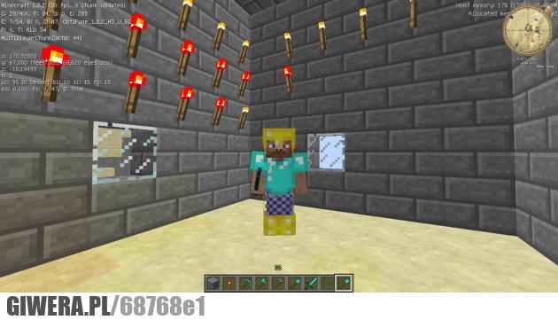 Minecraft, Steve, Kolczuga
