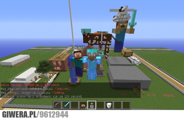 minecraft, gry, krowa, steav