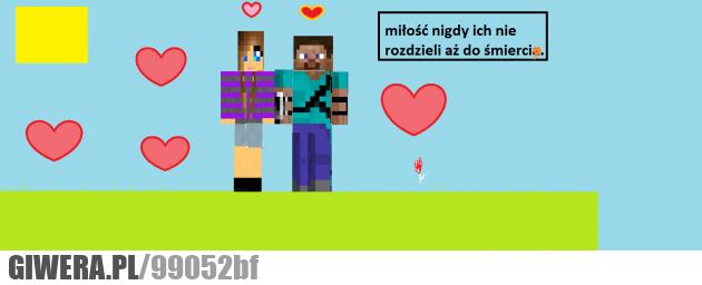 miłosne, gra, minecraft