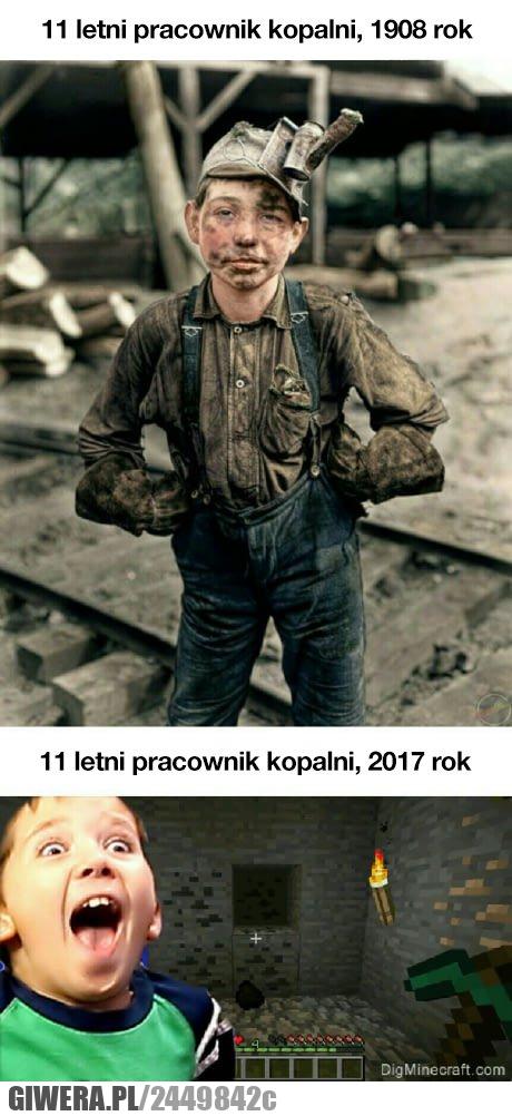 Pracownik kopalni,minecraft