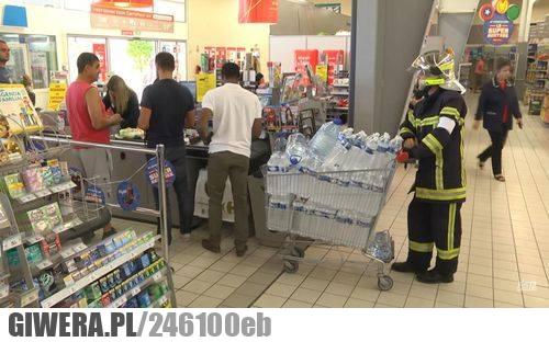 straż pożarna,biedronka,woda,pożar,heheszki