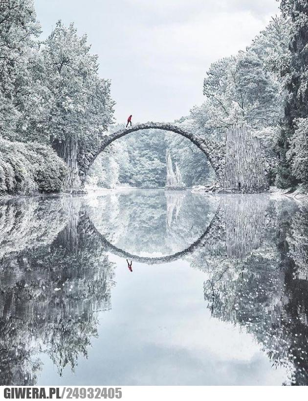 Most Kromlau, Niemcy,Earthporn