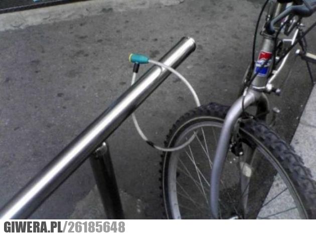 Mistrz zabezpieczeń,blokada,rower