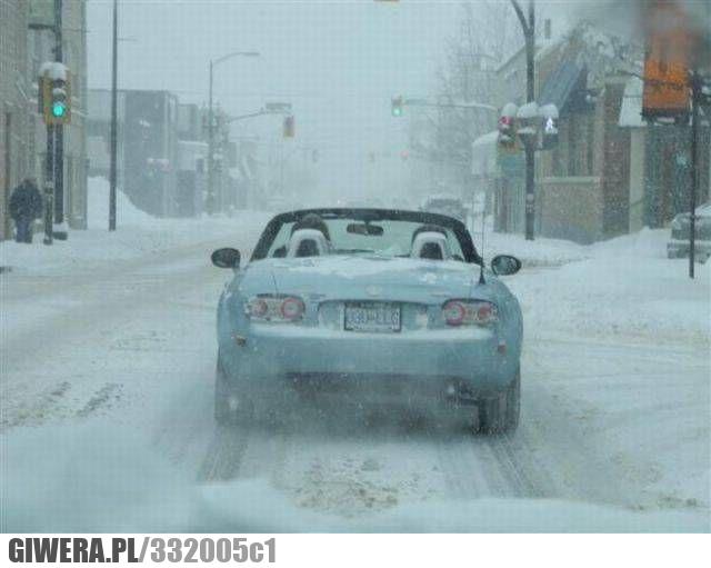 kabriolet,cabrio,śnieg